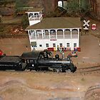 Miniature Train Station by Vivian Sturdivant