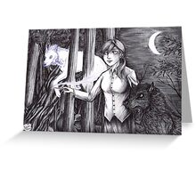 Andry and Sirius - black and white Greeting Card