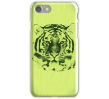 Tiger on Green Wood Grain  iPhone Case/Skin