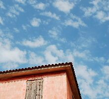 Red Corner Building in Caorle by jojobob