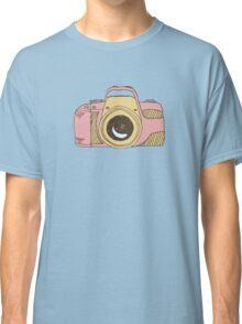 DSLR Camera Pink Doodle Illustration Drawing Tshirt Sticker Classic T-Shirt