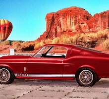 Red 1967  Shelby Cobra Mustang GT 500  by Walter Colvin