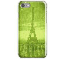 Vintage Green Paris Eiffel Tower iPhone Case/Skin