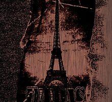 Vintage Paris Eiffel Tower 2 by Nhan Ngo