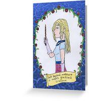 Luna Lovegood Cartoon Greeting Card
