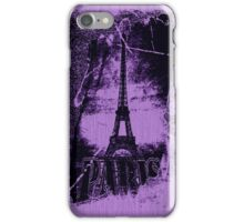 Vintage Violet Paris Eiffel Tower  iPhone Case/Skin