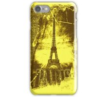 Vintage Yellow Paris Eiffel Tower  iPhone Case/Skin