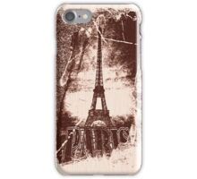 Vintage Paris Eiffel Tower 4 iPhone Case/Skin