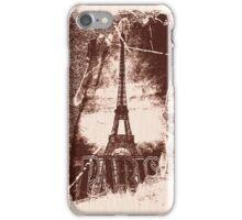Vintage Paris Eiffel Tower 4 iPhone Case/Skin