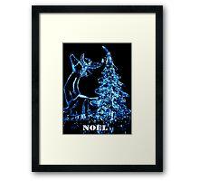 Noel Christmas card - Reindeer Framed Print