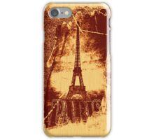 Vintage Brown Paris Eiffel Tower  iPhone Case/Skin