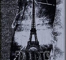 Vintage Gray Paris Eiffel Tower  by Nhan Ngo