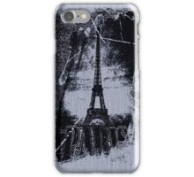Vintage Gray Paris Eiffel Tower  iPhone Case/Skin