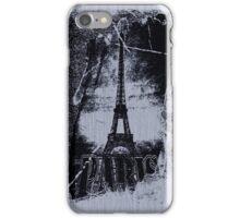 Vintage Gray Paris Eiffel Tower  iPhone Case/Skin