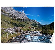 swiss mountains Poster