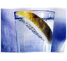 Soda Water & Lemon Poster