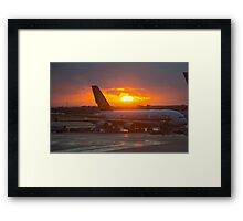 A380 Sunset Framed Print