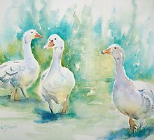 Three Geese by Ruth S Harris