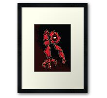 R is for Ruby Rock Stomp Framed Print