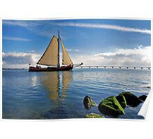 """The """"Scaldis"""" leaves the port of Zierikzee Poster"""