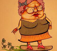 Skater Granny by Andrew Hennig