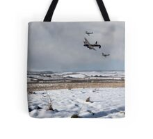 Battle of Britain Snow Scene Tote Bag