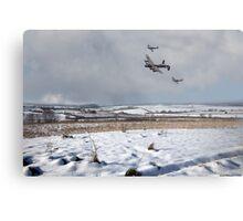 Battle of Britain Snow Scene Metal Print
