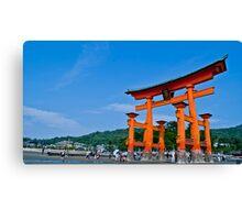 Miyajima Shrine Gate Canvas Print