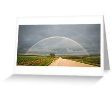 Rainbow Road Greeting Card