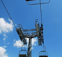 Ski Lift on Monte Zoncolan in Summer 10 by jojobob