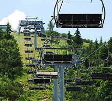 Ski Lift on Monte Zoncolan in Summer 11 by jojobob
