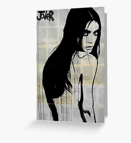 dark siren Greeting Card