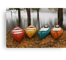 Coloured Boats Canvas Print