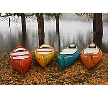 Coloured Boats Photographic Print