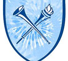 Blue Tie Dye Emory Logo  by emmylap