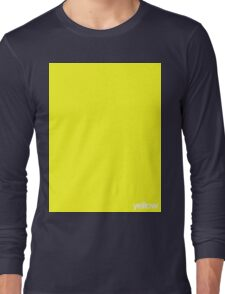 Yellow Square Long Sleeve T-Shirt