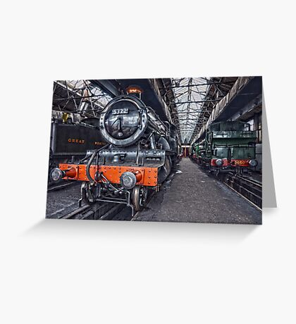 Steam Locomotive HDR VI Greeting Card