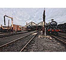 Didcot Railway Yard HDR Photographic Print