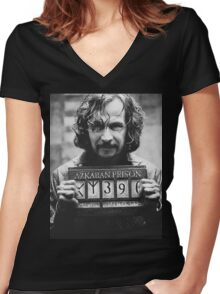 Sirius Black. Women's Fitted V-Neck T-Shirt