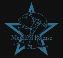 The Sisters Or Mercy - Merciful Release Logo (Blue on Black) by James Ferguson - Darkinc1