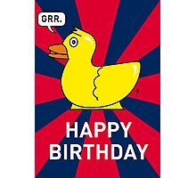 A Rubber Duck Birthday Card Photographic Print