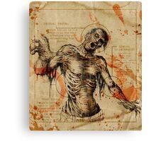 Diagram Zombie Canvas Print