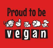 Proud to be vegan Kids Tee