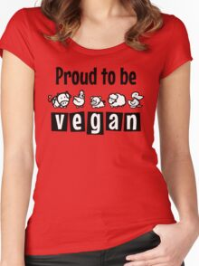 Proud to be vegan Women's Fitted Scoop T-Shirt