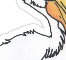 Fishing pelican  Sticker