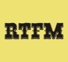 RTFM - Western Style Black Font Design for Coomputer Geeks Baby Tee