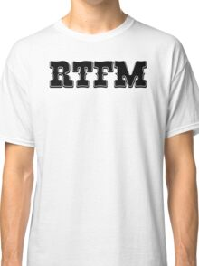 RTFM - Western Style Black Font Design for Coomputer Geeks Classic T-Shirt