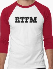 RTFM - Western Style Black Font Design for Coomputer Geeks Men's Baseball ¾ T-Shirt