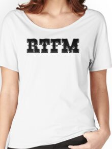RTFM - Western Style Black Font Design for Coomputer Geeks Women's Relaxed Fit T-Shirt