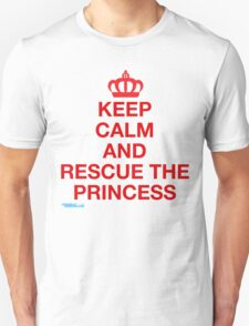 Keep Calm And Rescue The Princess Unisex T-Shirt
